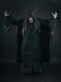 Vamp fantasmagorique de diable avec de grands clous effrayants Enfer et horreur images stock
