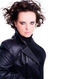 Vamp Frau über weißem Hintergrund Lizenzfreie Stockbilder