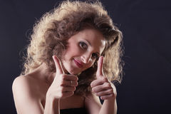 Vamp thumbs up Royalty Free Stock Images