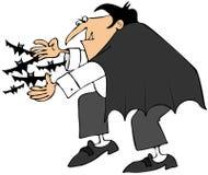 Vampier die knuppels vrijgeeft royalty-vrije illustratie
