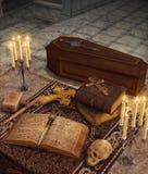 Vampier Hunter Relics Altar Coffin vector illustratie