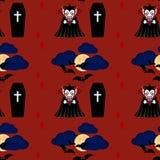 Vampier naadloos patroon 2 Stock Afbeeldingen