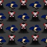 Vampier naadloos patroon 3 Royalty-vrije Stock Fotografie