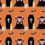 Vampier naadloos patroon 4 Royalty-vrije Stock Afbeeldingen