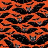 Vampieren op oranje achtergrond Stock Fotografie