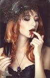 Vampiervrouw Royalty-vrije Stock Afbeeldingen