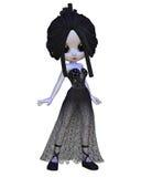 Vampir-Frau Toon-Halloween Lizenzfreie Stockfotos