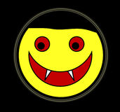 Vampir-glückliches Gesicht Stockbild