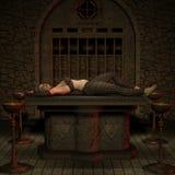 Vampir-Jäger - Halloween-Abbildung Stockfotografie