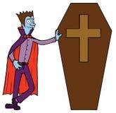 Vampir & Trumna ilustracja wektor