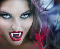 Vampire. Beautiful Lady Vampire. Halloween concept