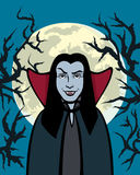 Vampire. Background with vampire Dracula(vector illustration Royalty Free Stock Image