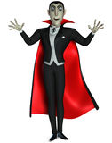 Vampire. 3 d cartoon halloween vampire Royalty Free Stock Photography