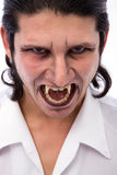 Vampire. Male vampire close up on white background Stock Photography