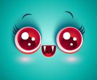 Vampire avec les yeux rouges pour Halloween Illustration Libre de Droits