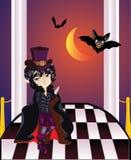 Vampire on Balcony Royalty Free Stock Photography