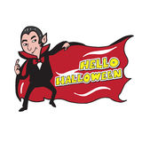 Vampire banner cartoon drawing Royalty Free Stock Images