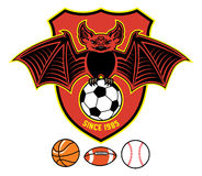 Vampire bat as a sport mascot Royalty Free Stock Photo