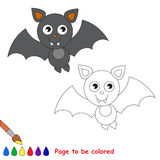 Vampire bat cartoon. Page to be colored. Stock Image