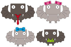 Vampire bat family Royalty Free Stock Photography