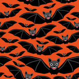 Vampire bats on orange background.  Stock Photography