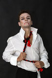 Vampire on black background Royalty Free Stock Images