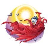 Vampire cape in the night Stock Photo