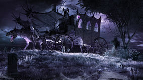Vampire Carriage Royalty Free Stock Photos