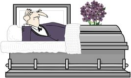 Vampire In A Casket Royalty Free Stock Image