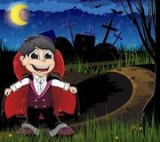 Vampire on a cemetery Stock Photo