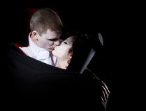 Vampire couple kiss Royalty Free Stock Image