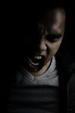 Vampire criant dans la rage Photos stock