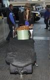 Vampire Diaries actress Nina Dobrev at LAX Royalty Free Stock Photo