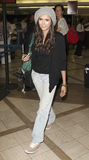 Vampire Diaries star Nina Dobrev is seen at LAX Royalty Free Stock Photos