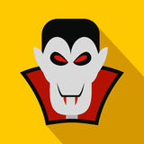 Vampire dracula flat icon. With shadow for web and mobile devices Royalty Free Stock Photo
