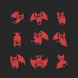 Vampire Dracula for Halloween. Vector icon in style flat Royalty Free Stock Images