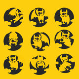 Vampire Dracula for Halloween. Vector icon in style flat Stock Images