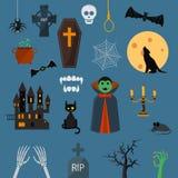 Vampire dracula symbols icons vector set. Royalty Free Stock Image