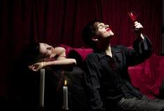Vampire drink Royalty Free Stock Image