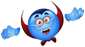 Vampire emoticon Stock Image