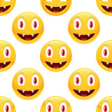 Vampire emoticon pattern Stock Photo