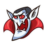 Vampire face. Vector clip art illustration with simple gradients Stock Photography