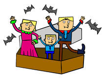 Vampire family Stock Image