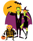 Vampire Family Portrait Royalty Free Stock Photos