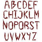 Vampire font Royalty Free Stock Photos
