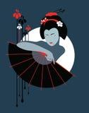 Vampire geisha Royalty Free Stock Images
