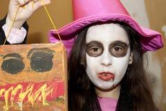 Vampire girl stock photography