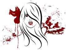 Vampire girl Stock Images