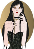 Vampire girl royalty free illustration