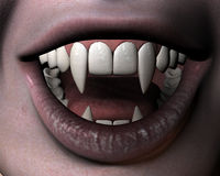 Vampire girl's smile Stock Photography